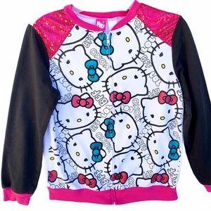 Hello Kitty Full Zip Sweatshirt Sequins Girls XL